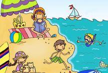 desenhos para praia