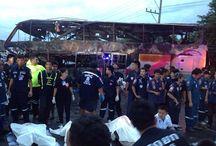 Negentien doden bij busongeluk in Saraburi