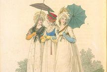 directoire 1795-1799 robes Les Incroyables et Merveilleuses / dyrektoriat 1795 - 1799 suknie damskie