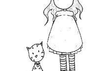 Gjo avec son chat