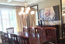 """Lorne Park Dining & Living Room / Added Artwork, Mirrors, Drapery & Accessories  """"Changing your house into a home"""""""