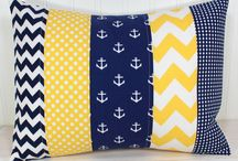 quilted nautical pillows