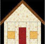 Quilt house blocks