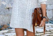 Outfit vestido suéter