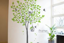 Baby room wall tree