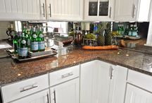 Kitchen cabinets / Painted cabinets w/glass doors