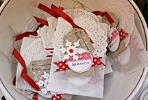 Christmas Papercrafting: Holly Jolly / Create lots of tags, cards, gifts, ornaments and so much more from a stash of paper...what could be simpler? / by Betsy Spencer