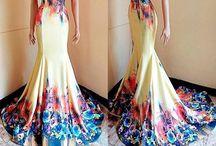 Fabric dress painting