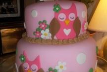 Owl theme cakes