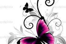 mariposas vectorizadas