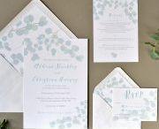 Eucalyptus wedding invitations