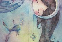 Juri Ueda акварельная живопись
