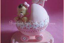 lembranças e topo de bolo  para chá de bebê, chá de fraldas