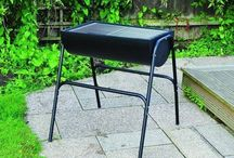 Modern Black BBQ Large Charcoal Garden Barbecue Outdoor Portable Outdoor Grill