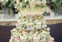 { weddings } The Cake / Scrumptious wedding cake pins with flowers and without, we love cake!  www.theflowerfarmflorist.co.uk https://www.facebook.com/theflowerfarmflorist/