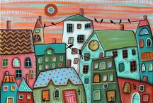 Дома, домики рисунки идеи