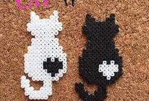 ~ Perler beads. Cats ~