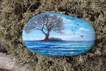 Роспись камушков