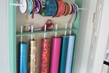 craft room storage ideas / by Tina Townley