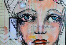 Art Journals - Faces & People
