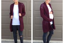 Mom Style: Maternity Outfits for Fall/Winter / Simple but cute outfits for moms who are pregnant. For work, home, or play. // pregnancy // maternity // chic // affordable // cheap // wardrobe // clothes // fall // winter // casual // pictures