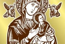 Virgen del Perpetuo Socorro / Versión colorizada de una de las imágenes para corte de mi website www.logo-arte.com