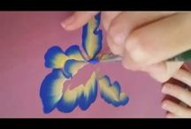 One-stroke painting