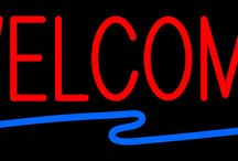 Welcome Bar Neon Signs