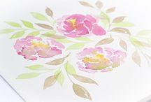 Watercolor florals / Watercolor florals