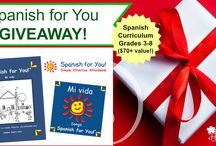 Giveaways Spanish for You! / Sometimes we give away themed packages for home use. Check here to see if a giveaway is going on now!