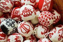 Новогодние шары / вязание новогодних игрушек