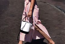 Pop of red stripes