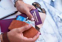 Passport Case/Pasaport Kılıfı / Handmade leather & wool felt passport case.
