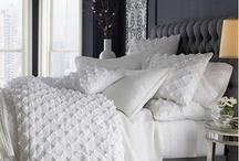 HOME: Master Bedroom / Silver/white bedroom ideas / by Sally Teigen