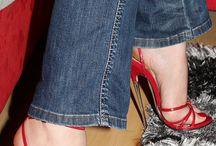 Frauen tragen High Heels