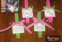 Baby Shower Clothespin Favors