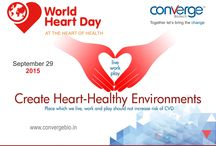 World Heart Day.. / World Heart Day was founded in 2000 to inform people around the globe that heart disease and stroke are the world's leading causes of death, claiming 17.3 million lives each year.  Together with World Heart Federation members, World Heart Day spreads the news that at least 80% of premature deaths from cardiovascular disease (CVD) could be avoided if four main risk factors – tobacco use, unhealthy diet, physical inactivity and harmful use of alcohol – are controlled.