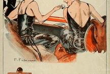 l'histoire en images des  parfums français / affiches et pages publicitaires à travers le temps