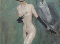 """Jean-Gabriel Domergue - """"The Inventor of the Pin-up"""" / Jean-Gabriel Domergue painted Parisian women. He focused on portrait painting after 1920 and claimed to be the """"inventor of the the pin-up"""""""