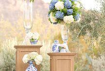Blue White Wedding