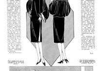Dvacátá ... střihy a nákresy // Twenties ... patterns and drawings