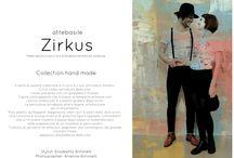 Collezione tshirt ZIRKUS / T-shirt dipinte a mano  facebook.com/attebasile attebasileattebasile.wix.com/attebasile