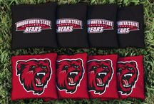 Bridgewater State Bears Cornhole Boards, Tailgating Gear and Man Cave Decor