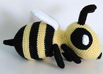 Bee crocheted