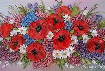 fiori con nastrini