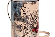 Vertical Tube - The Lily Of The Valley / Women Leather Handbags, Limited Edition Designer Leather Bag COLOURS OF MY LIFE - Limited Edition wearable art signed by Anca Stefanescu.