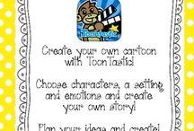 Toontastic / Denne tavlen handler om spillet: TOONTASTIC