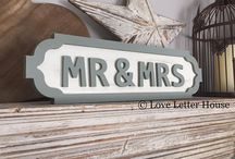 wedding signs, wedding gifts, married