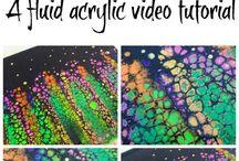 Fluid acrylic tutorial