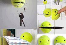 Gelbe Helfer / Tennisball
